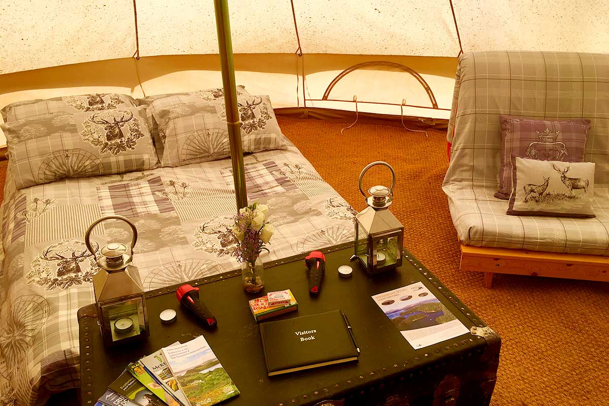 Glamping at Portnellan Farm, Loch Lomond